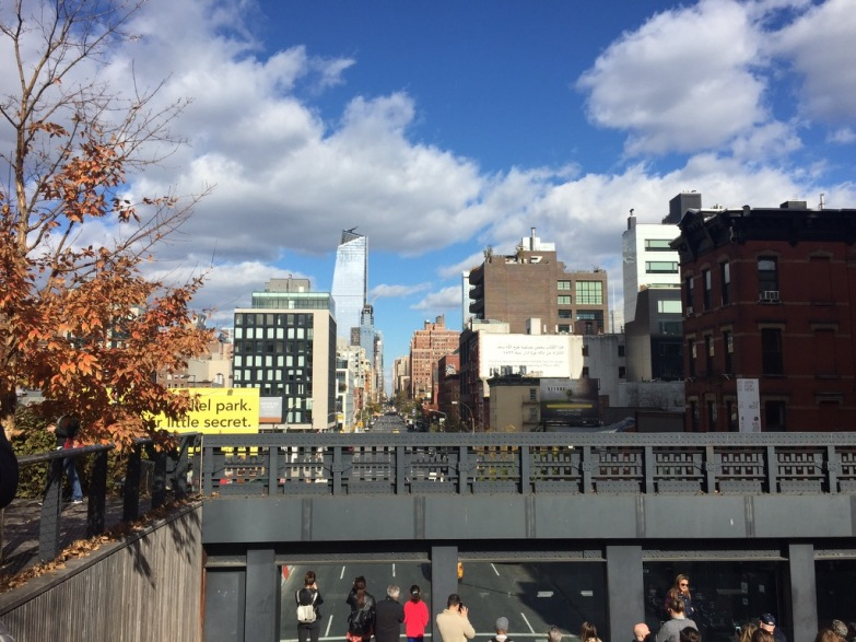 A view of New York City from the High Line